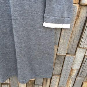 Tahari Dresses - Woman's large sweater dress Tahari gray cream